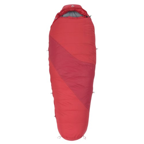 Kelty Women's Ignite DriDown 20-Degree Sleeping Bag, Red, 5-Feet 8-Inch