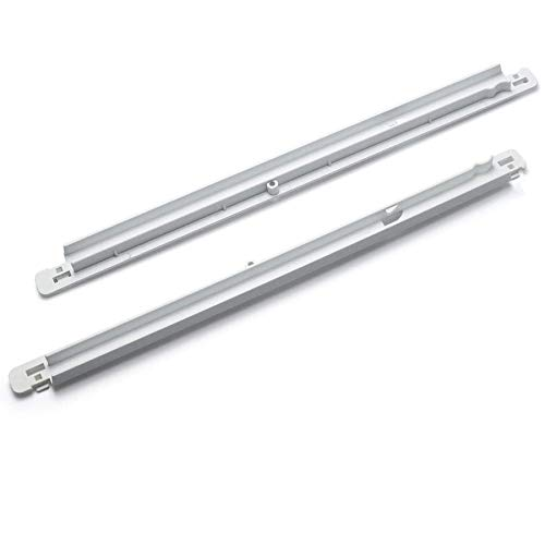Romalon 2-Pack 240365401 & 240356501 Meat Pan Hangers (Left & Right) Replacement Part for Frigidaire Refrigerator Meat Drawer Track
