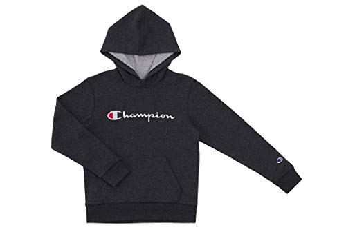 Champion Kids Clothes Sweatshirts Youth Heritage Fleece Pull On Hoody Sweatshirt with Hood  (Medium, Heritage Granite Heather)