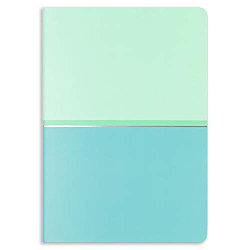 Erin Condren Designer Petite Journal with Color Block Dot Grid Layout - Lagoon. Great for Drawing and Organizing Bullet Points and to Do Lists, Custom Index Pages