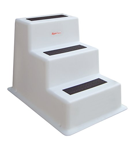 Taylor Made Products 47300 StepSafe Dock Step, Triple Tread, White