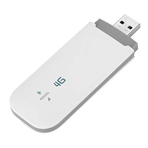 4G LTE USB Modem, Unlocked Pocket Wireless USB Network Adapter WiFi Router Network Hotspot with SIM/TF Card Slot Support 4G FDD:B1/B3/B5 TDD:B38/B39/B40/B41 for PC Desktop Laptop