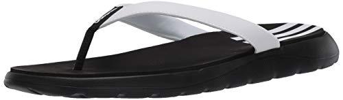 adidas Women's Comfort Flip-Flops Slide, Black, 8 M US