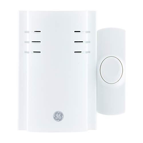 GE Wireless Doorbell Kit, 2 Melodies, 1 Push Button, 4 Volume Levels, 150 Ft. Range, White, 19298, Plug-In Receiver