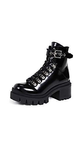Jeffrey Campbell Women's Czech Combat Boots, Black, 8.5 Medium US