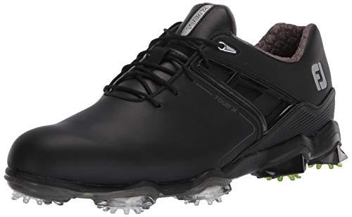 FootJoy Men's Tour X Golf Shoes, Black, 9 M US