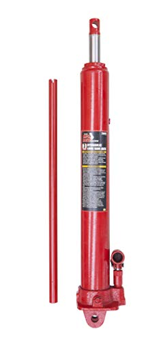 BIG RED T30306 Torin Hydraulic Long Ram Jack with Single Piston Pump and Clevis Base (Fits: Garage/Shop Cranes, Engine Hoists, and More): 3 Ton (6,000 lb) Capacity, Red