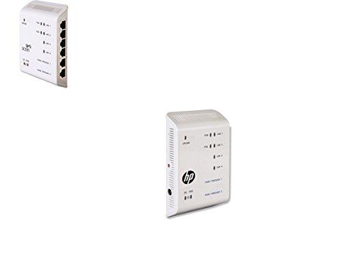 HP 3Com NJ2000G IntelliJack 4-Ports Compact 10/100/1000 Wall-Mount Switch JD057A