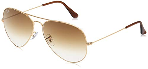 Ray-Ban Unisex-Adult RB3025 Classic Sunglasses, Gold/Brown Gradient, 55 mm