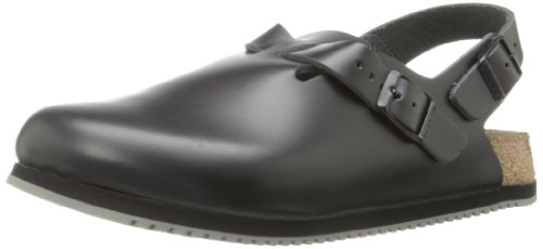 BIRKENSTOCK Professional Tokyo Super Grip Leather, Black, 10-10.5 N US Women / 8-8.5 N US Men