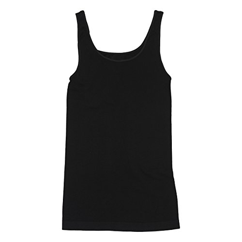 Tees By Tina Smooth Tank, Black, One-Size