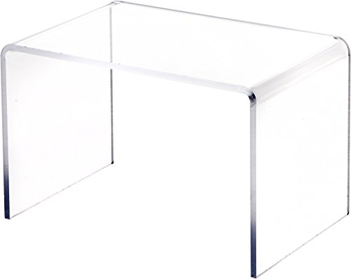 Plymor Clear Acrylic Small Rectangular Display Riser, 5 inch Height x 7.5 inch Width x 5 inch Depth (3/16 inch Thick)