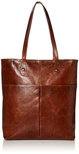 Frye womens Melissa Simple Zip Tote Bag, Cognac, One Size US
