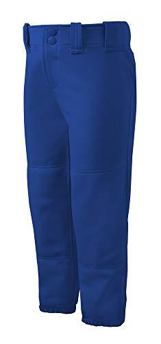 Mizuno Adult Women's Belted Low Rise Fastpitch Softball Pant, Royal, Medium