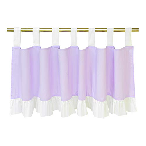 Brandream Baby Girl Valance Luxury Purple Ruffle Curtain Valance Princess Sweet Window Valance for Baby/Newborn/Infant/Toddler/Kids Bedroom/Living Room Purple Nursery Decor