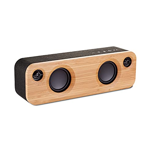 House of Marley Get Together Mini: Portable Speaker with Wireless Bluetooth Connectivity, 10 Hours of Indoor/Outdoor Playtime, and Sustainable Materials, Signature Black