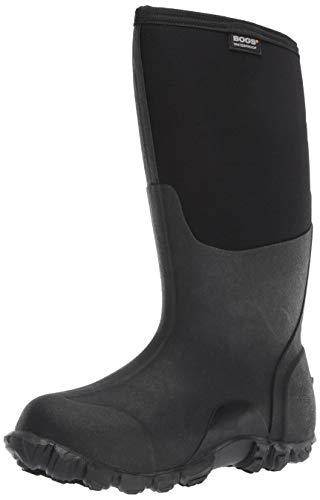 Bogs Men's Classic High Waterproof Insulated Rain Boot, Black, 10 D(M) US