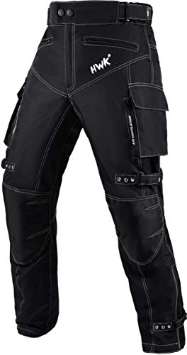 Motorcycle Pants for Men Dualsport Motocross Motorbike Pant Riding Overpants Enduro Adventure Touring Waterproof CE Armored All-Weather (Waist34''-36'' Inseam34'') Black