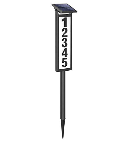 SUNGATH Lighted House Address Numbers Sign,Solar Powered House Numbers Light for House and Yard (Height 35 Inches, 1 Pack)