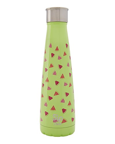 S'ip by S'well Watermelon Cooler-Double-Layered Vacuum-Insulated Keeps Food and Drinks Cold and Hot-with No Condensation-BPA Free Water Bottle, 15oz