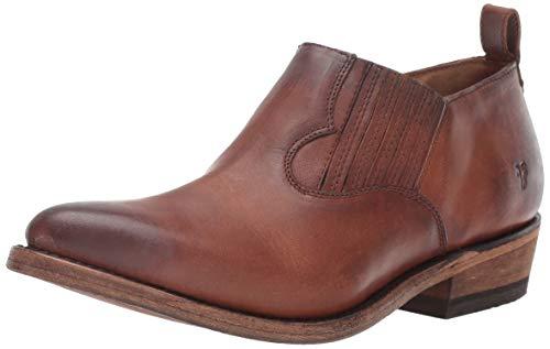 FRYE Women's Billy Shootie Western Boot, Cognac Washed Oiled Vintage, 10 M US