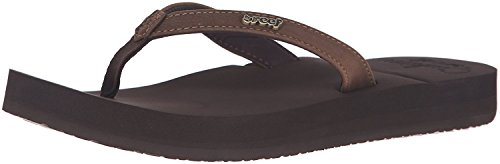 Reef Women's Cushion Luna Sandal, Brown, 8