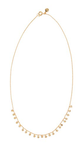 gorjana Women's Chloe Mini Boho Necklace with Multiple Disc Charms, 18K Gold Plated, 16 inch Chain