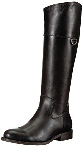 Frye Women's Jayden D Ring Riding Boot, Black Smooth Oiled Veg, 10 M US