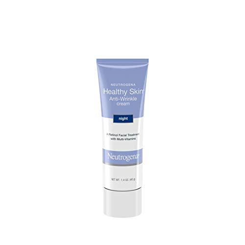 Neutrogena Healthy Skin Anti-Wrinkle Retinol Night Cream with Vitamin E and Vitamin B5 - Night Moisturizer Cream with Retinol, Vitamin E, Vitamin B5, Glycerin, 1.4 oz