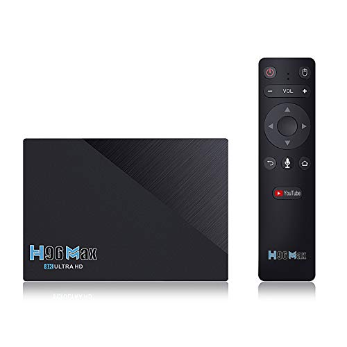 Android 11.0 TV Box 2021 Newest Set Top Box H96 MAX RK3566 Quad Core 8GB RAM 64GB ROM Streaming Media Players with 2.4G/5.8GHZ WiFi with AC & BT 4.0 8K Smart TV Box