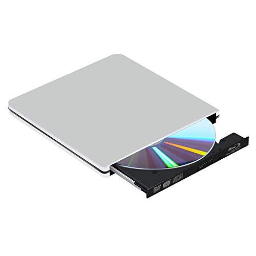 External Bluray DVD Drive, USB 3.0 Blu Ray 3D 4K Drive Player Blu-Ray CD DVD Drive Burner for Windows XP/7/8/10, MacOS, Linux, MacBook, Laptop, Desktop