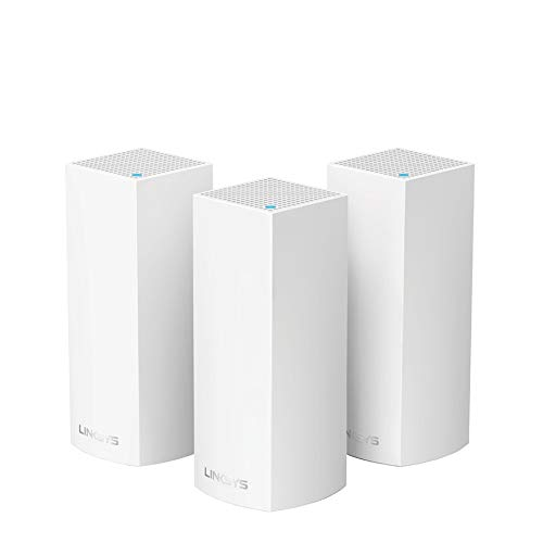 Linksys (WHW0303) Velop Mesh Router (Tri-Band Home Mesh Wi-Fi System for Whole-Home Wi-Fi Mesh Network) 3-Pack, White