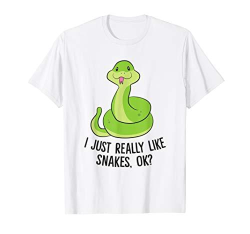 I Just Really Like Snakes Ok Cute Snake Gift Reptile Lover T-Shirt