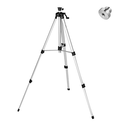 Firecore 502D Adjustable 60-inch Aluminum Alloy Laser Tripod, with Bubble Level and Extra 5/8'-11 Tripod Adapter