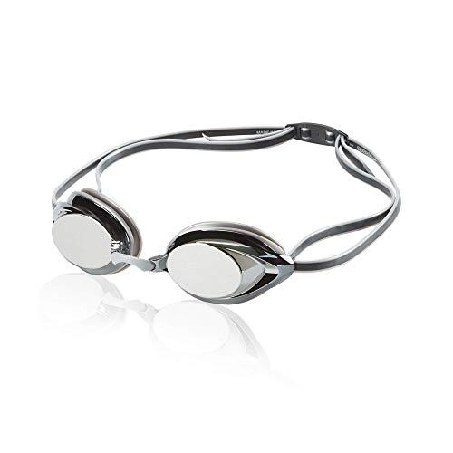 Speedo Unisex-Adult Swim Goggles Mirrored Vanquisher 2.0 Silver, One Size
