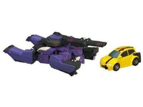 Transformers Animated Exclusive Deluxe Action Figure 2-Pack Shockwave VS. Bumblebee