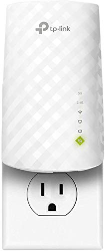 TP-Link AC750 WiFi Extender (RE220), Covers Up to 1200 Sq.ft and 20 Devices, Up to 750Mbps Dual Band WiFi Range Extender, WiFi Booster to Extend Range of WiFi Internet Connection