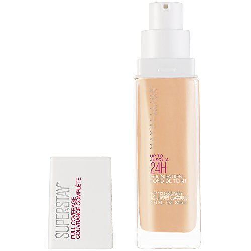 Maybelline Super Stay Full Coverage Liquid Foundation Makeup, Classic Ivory, 1 Fl Oz