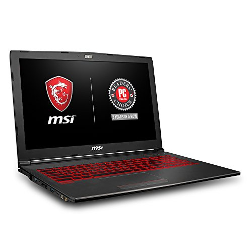 MSI GV62 8RD-200 15.6' Full HD Performance Gaming Laptop PC i5-8300H, GTX 1050Ti 4G, 8GB RAM, 16GB Intel Optane Memory + 1TB HDD, Win 10 64 bit, Black, Steelseries Red Backlit Keys