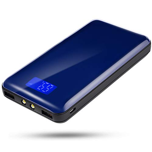 20000mah Mobile Power Supply, with Dual USB Port Output, Portable Charger with LCD Display, Compatible with Various Series Such as iPhone 12/12 Pro/12pro max/XS/XS max/XR, Samsung Galaxy Note Series.