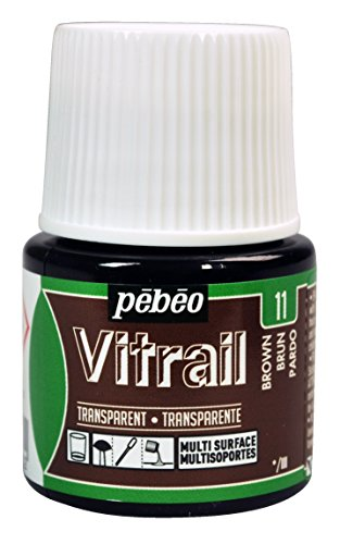 Pebeo Vitrail, Stained Glass Effect Paint, 45 ml Bottle - Brown