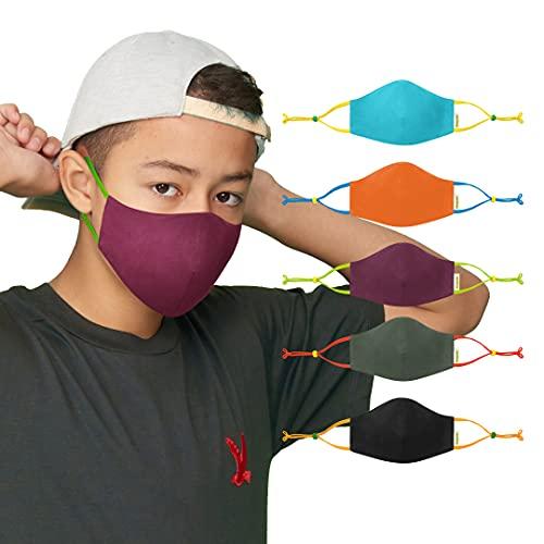 Crayola Kids Face Mask - 5 Reusable Cloth Face Mask Set, Earth Colors, Teacher Supplies