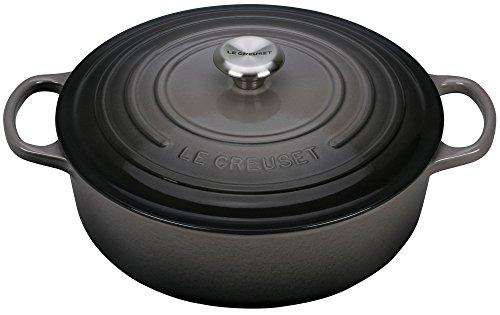 Le Creuset Enameled Cast Iron Signature 6.75QT. Round Wide Oven-Oyster, 6.75 qt