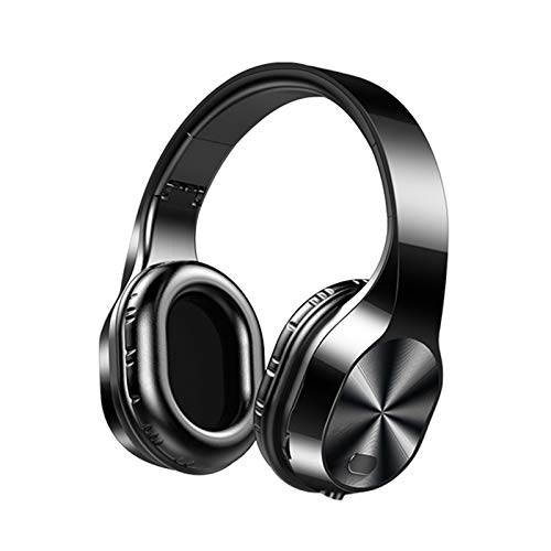 LUYANhapy9 Bluetooth 5.0 Headphone,T5 Foldable Micro-SD Card HiFi Stereo Music Headphone Headset Surround Sound Over Ear Noise Canceling for Sport Black One Size
