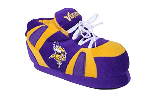 MNV01-3 Minnesota Vikings - Large - Happy Feet & Comfy Feet NFL Slippers