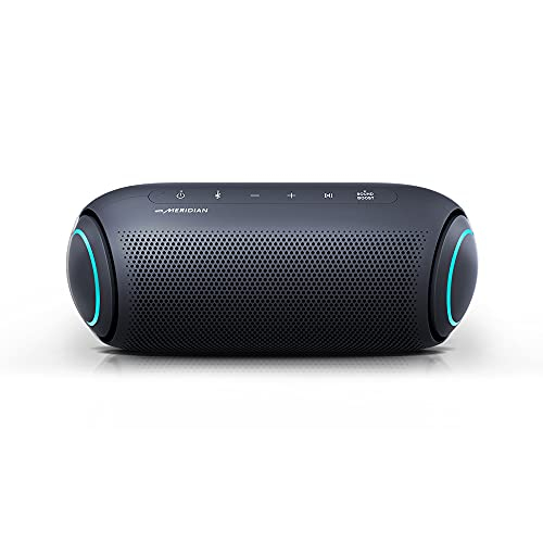 LG XBOOM Go PL7 Portable Wireless Bluetooth Speaker with Up to 24 Hours Battery, IPX5 Water-Resistant, Outdoor Party Speaker with Microphone for iPhone and Android - Black
