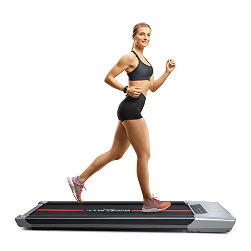 Wonder Maxi Under Desk Treadmill Workout Jogging Machine with LCD and Remote Control Portable Compact Treadmill for Jogging and Walking Exercise Home Gym