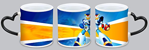 Personalised magic hot heat sensitive color changing coffee mug cup- Mega Man X,the perfect gift to your family,lover,friends!