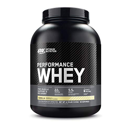 Optimum Nutrition Performance Whey Protein Powder, Whey Protein Concentrate, Whey Protein Isolate, Hydrolyzed Whey Protein Isolate, Flavor: Vanilla, 50 Servings