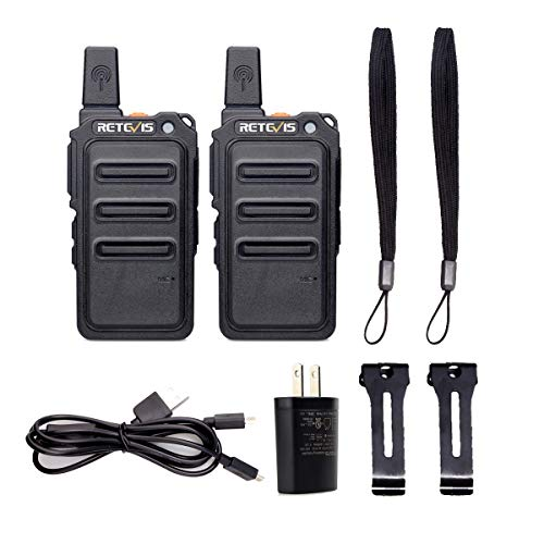 Retevis RT19 Walkie Talkies Rechargeable FRS 22 Channel Lightweight Small Two Way Radio Long Range(2 Pack)